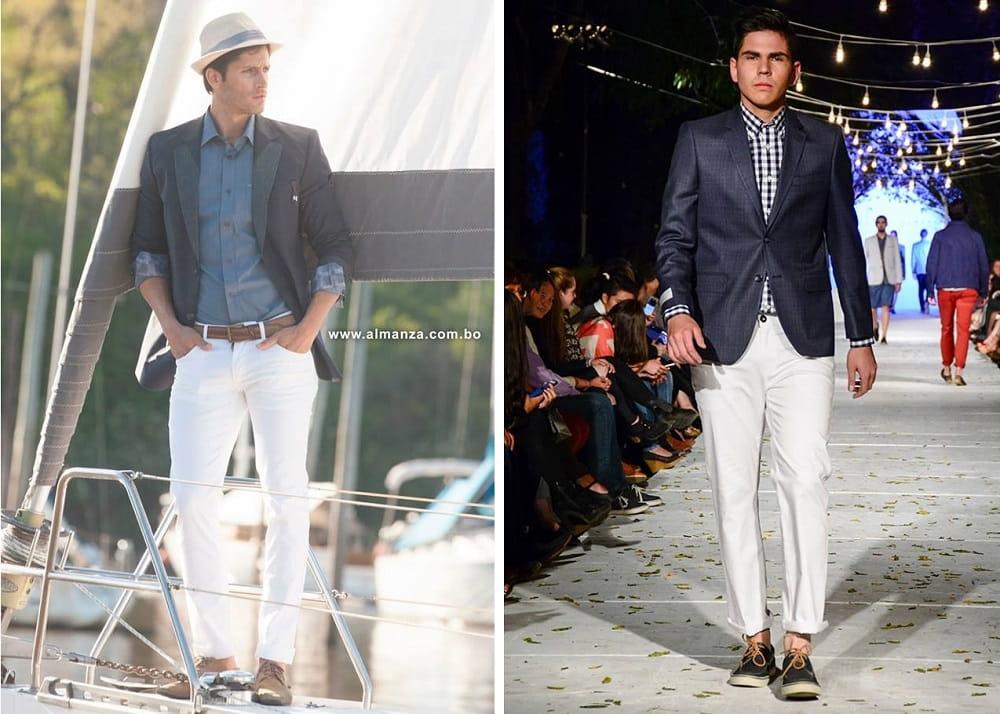 Combinar Pantalon Azul De Vestir Hombre 1 Jersey Hombre