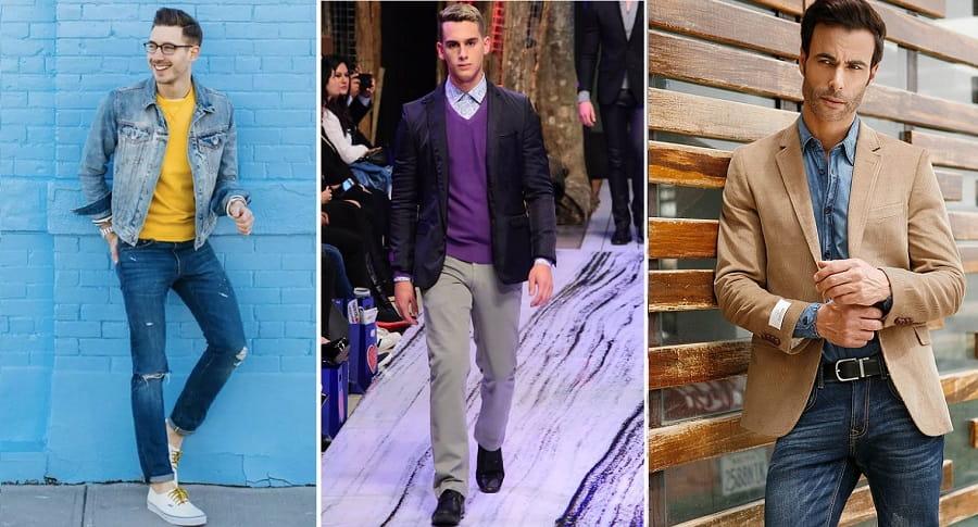 Combinar vestimenta con varios colores