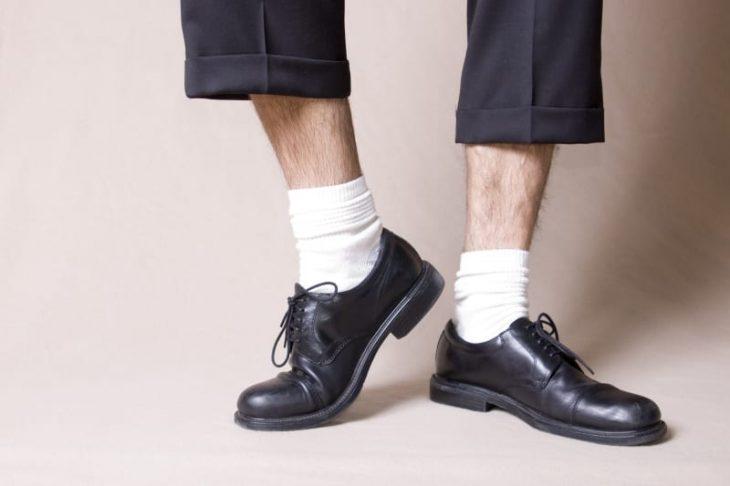 No a los calcetines Blancos